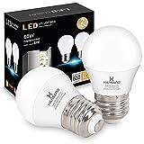 LED Refrigerator Light Bulb 6W, Hansang A15 E26 Base LED Bulbs Waterproof Appliance Fridge Light Bulb, Freezer Light Bulb with 5000K Daylight, Ceiling Fan 60 Watt Equivalent 120V, Non-Dimmable, 2 Pack