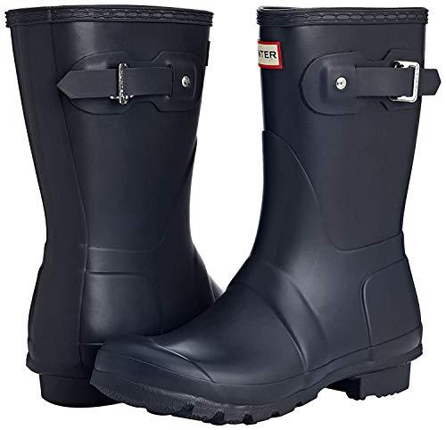 Hunter Original Short Gloss W23700 - Botas de agua unisex para adultos, color Negro, talla 39 EU