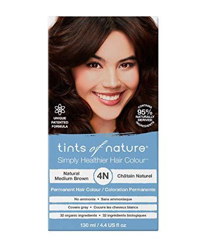 Tints of Nature Natural Medium Brown Permanent Hair Dye 4N Nourishes Hair & Covers Greys - Single...