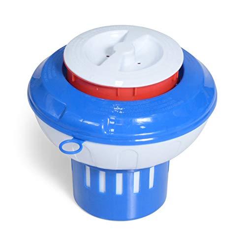 Milliard Chlorine Floater with Pop Red Empty Gauge, Floating Chlorinator Dispenser