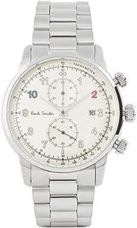 [ポールスミス]Paul Smith メンズ ブロック 41mm クロノグラフ アイボリー文字盤 シルバー ステンレス P10142 腕時計[並行輸入品]