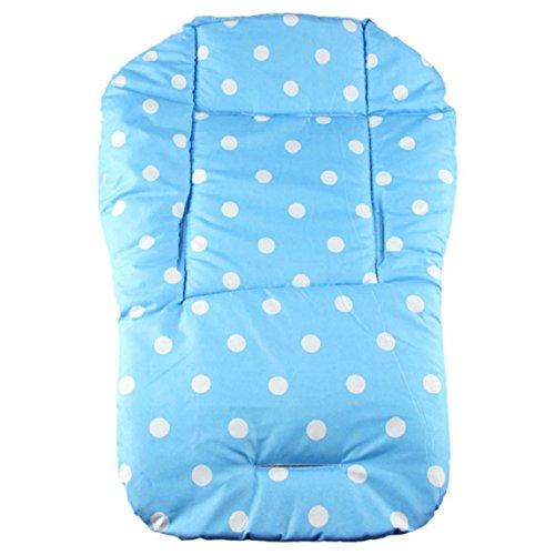 Amison Bambino spessore colorato cuscino di passeggino cuscino di seduta carrello di bambino cotone arcobaleno generali cotone spessa stuoia (Azzurro cielo)