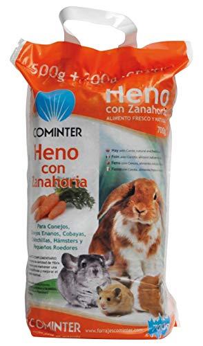 Cominter Heno con Zanahoria para Roedores Bolsa 500 gr + 200 gr...