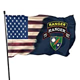 75 ranger hat - Itupzii Us Army Retro 75 Ranger Battalion Flag-Brass Grommets Vivid Color 3x5 Feet Home Decoration,Garden Decoration,Outdoor Decoration,Holiday Decoration,Farm Decoration,Anniversary Decoration