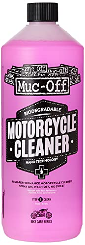 Muc Off 664US Nano-Tech Motorcycle Cleaner, 1 Liter - Fast-Action, Biodegradable Motorbike Cleaning...