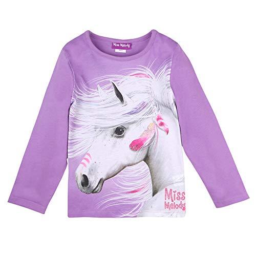 Preisvergleich Produktbild Miss Melody Mädchen T-Shirt,  Langarmshirt,  violett,  Größe 140,  10 Jahre