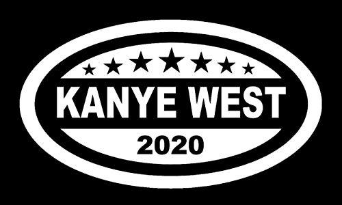 Makarios LLC Kanye West para President 2020 Coches Camiones Vans Walls Laptop MKR | Blanco | MKR867