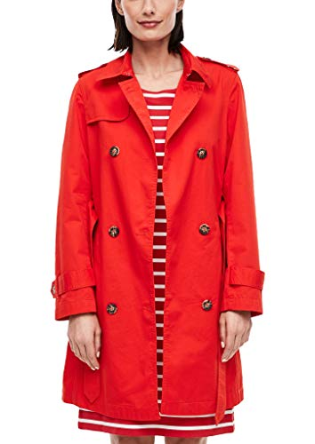 s.Oliver Damen Trenchcoat im klassischen Style red 42