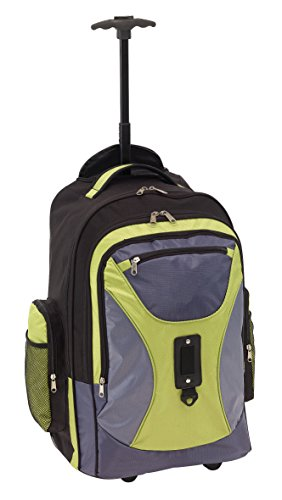 Rucksack Trolley mit gepolstertem Laptopfach Daypack verstellbaren Schultergurte Rucksacktrolley Einhand Teleskopsystem Rucksäcke