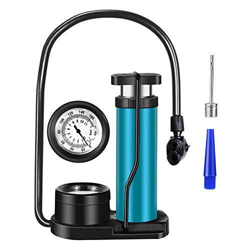 Zingso Fahrrad Pumpe Fußpumpe Luftpumpe 160 PSI Fahrradpumpe Tragbar Minipumpe Standpumpe Inflator Fußluftpumpe für Presta und Schrader Ventile für Fahrrad Bälle
