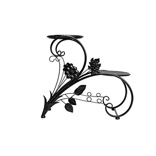 XUANLAN étagère Fer Noir Bassin Cadre Famille Jardin Terrasse Décoration Présentoir Bonsaï en Fer Forgé Fleur