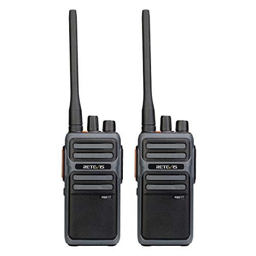 Retevis RB617 Walkie Talkie Recargable, 4400 mAh, Radio Bidireccional con Cable USB...