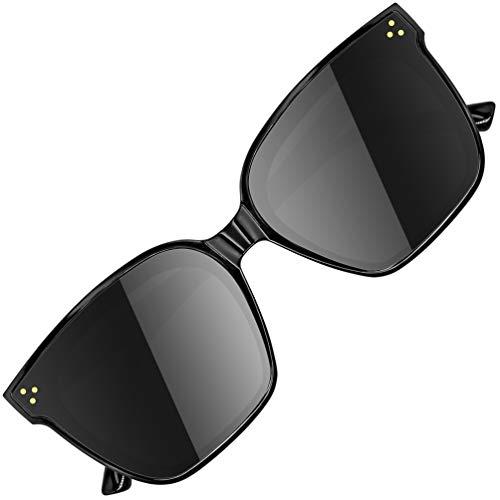 ATTCL Unisex HD Nylonlinse Sonnenbrille Herren Damen verspiegelt TR90 Rahme Ultra Leicht JD211 Black