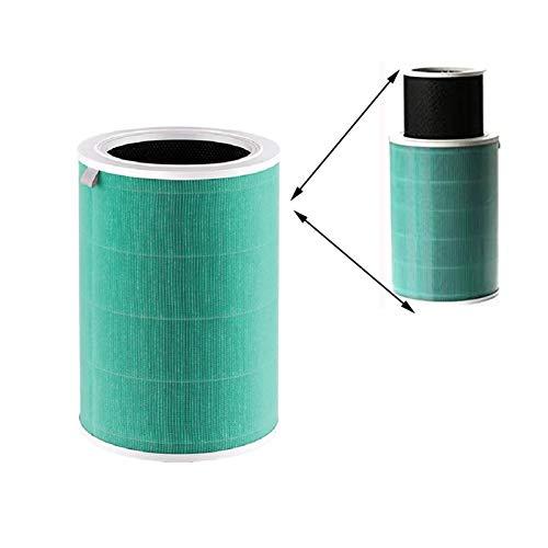 Home of Abby Filtro de purificador de Aire Reemplazo de Filtro HEPA FIT para XIAOMI 1/2/2S / 3/3H Purifier de Filtro HEPA electrostático Anti pm2.5 formaldehído (Color : APF01 Green)