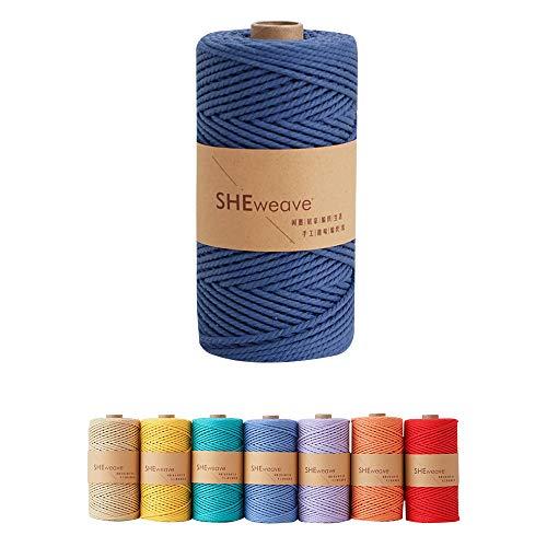 Macrame Cord,Natural Cotton Macrame Rope,3mm