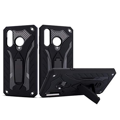 COOVY® Cover für Samsung Galaxy A8s SM-G8870 Bumper Hülle, Hülle Doppelschicht aus Plastik + TPU-Silikon, extra stark, Anti-Shock, Standfunktion | schwarz