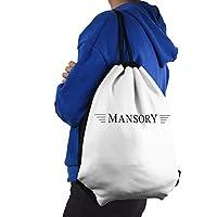 Mansoryロゴ ドローストリングドローストリングバックパック