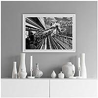 絵画 タイムズスクエアキャンバスプリントとポスターのタクシーのラマヴィンテージキリンの写真部屋の家の装飾のための壁の芸術23.6x31.5in(60x80cm)x1pcsフレームなし