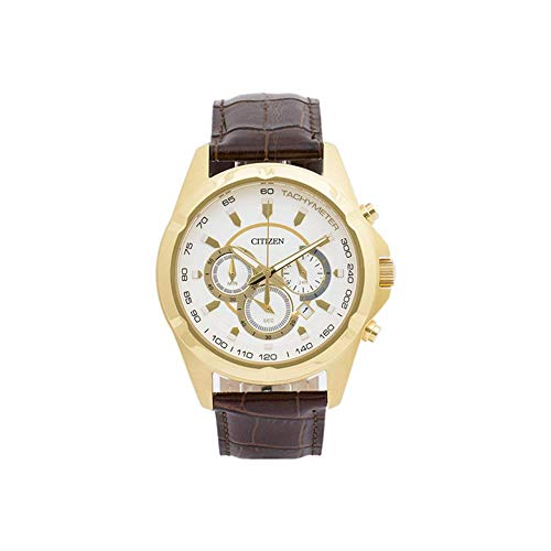 Men's Citizen Chronograph Leather Band Watch AN8043-05A