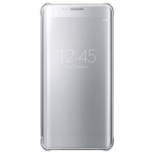 Samsung Plus Clear View Custodia per Galaxy S6 Edge Plus, Argento