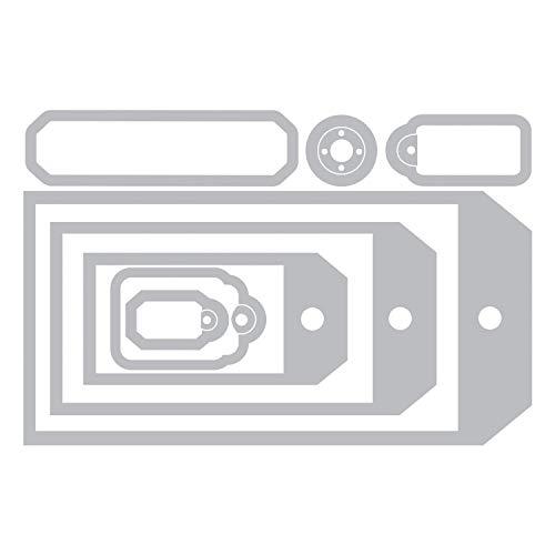 Sizzix Framelits Troqueles 8PK Colección de etiquetas