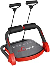BalanceFrom AB Trainer Abdominal Machine Exercise Crunch Roller Workout Exerciser, Red