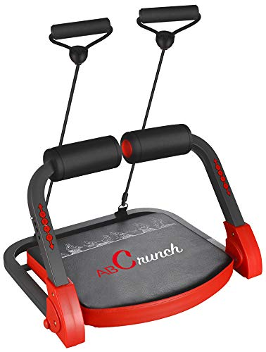 BalanceFrom AB Trainer Abdominal Machine Exercise Crunch Roller Workout Exerciser Red