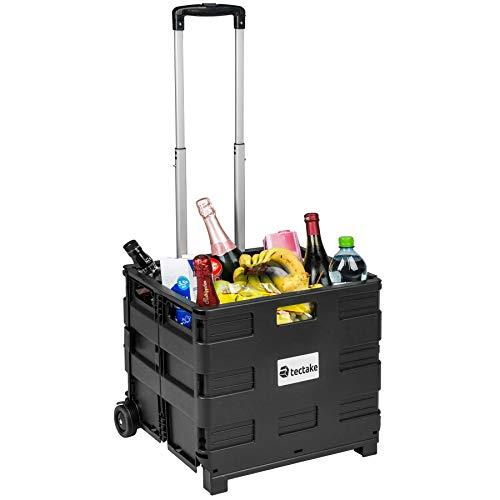 TecTake Einkaufswagen bis 35 kg Einkaufstrolley klappbar | Totalmaße: 45 x 37,5 x 45-97 cm | ABS Kunststoff & Aluminium