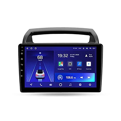 Para Kia Carnival 2006-2014,Android 10 9'' Autoradio Con Pantalla Táctil/Enlace Espejo/BT/GPS/Mandos De Volante/Cámara Trasera/4G LTE+5G WIFI/3D Dinámica De Conducción En Tiempo Real,Cc2l,2+32G