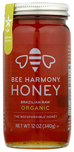 BEE HARMONY Organic Brazilian Raw Honey 12 OZ