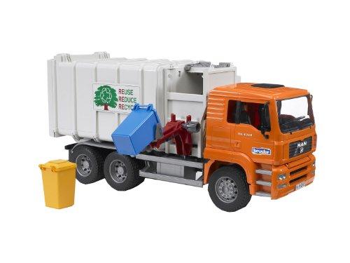 bruder 02761 Toys Man TGA Seitenlader Müll-LKW