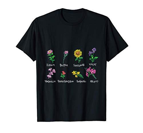 Cuadro botánico de flores de inspiración antigua Camiseta