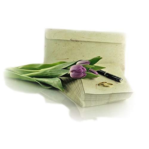 Garsihome edle Briefumschläge Vintage zum Hochzeitseinladungen selber basteln, Briefpapier für Mädchen, Liebesbrief, Kirchenheft Hochzeit oder Einladungen (créme, 50 Briefumschläge)