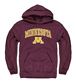Campus Colors Adult Arch & Logo Soft Style Gameday Hooded Sweatshirt  Minnesota Golden Gophers - Red Medium