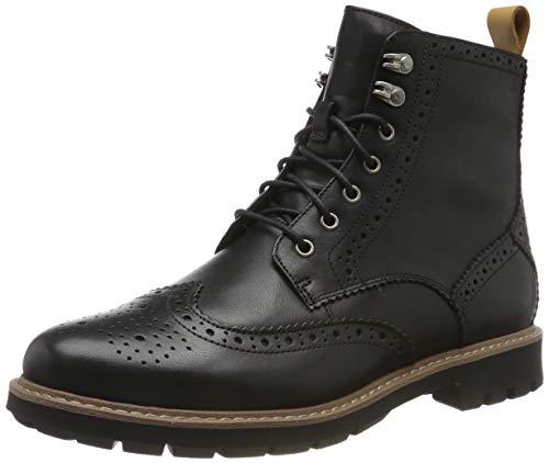 Clarks Herren Batcombe Lord Biker Boots, Schwarz (Black Wlined Lea Black Wlined Lea), 44 EU