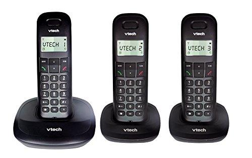 Vtech VT600-3 Teléfono Línea Fija, color Negro