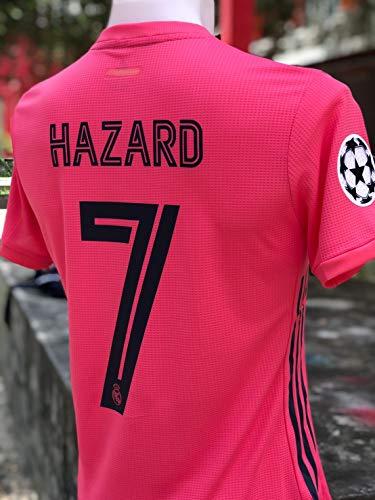 ZA Eden Hazard Soccer Jersey Trikot 2020-2021 Full UCL. Patch Size XL