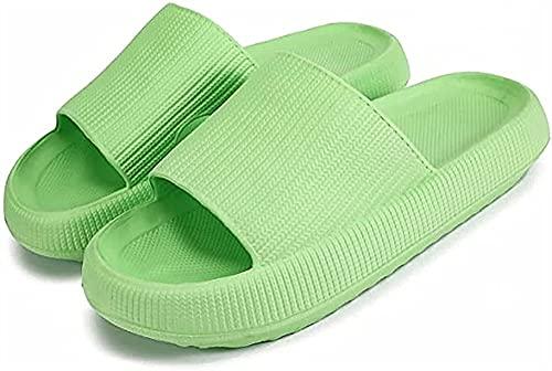 GYYlucky Sandalias de Mujer Zapatos Planos de Verano para Mujer Zapatillas de Interior al Aire Libre de Fondo Plano Sandalias de Playa Zapatillas de Punta Abierta (Color : Green, Size : XX-Large)