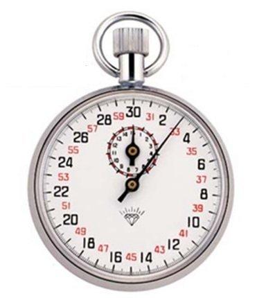 手巻き アナログ式 ストップウォッチ 最小目盛(秒):1/10 タイミングレース タイムウォッチ 【アンティークでお洒落なストップウォッチ】 M-504