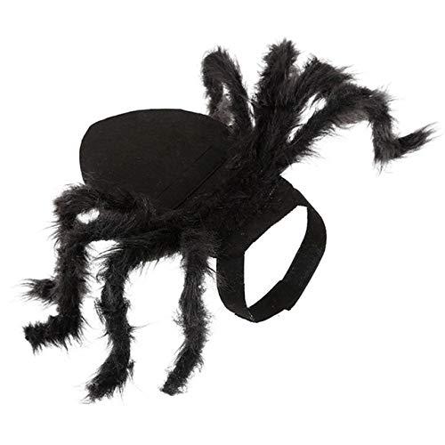 MYYXGS Disfraz De Mascota Ropa De ArañA Ropa De ArañA para Mascotas De Halloween Cachorro Disfraz De ArañA De Peluche Perro Gato Cosplay