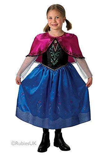 Frozen La Reine des neiges Anna Costume pour enfant robe avec cape Différentes tailles disponibles