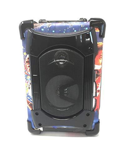 Altavoz Portátil Sakkyo APM85. Potencia 10W RMS y Acceso Bluetooth, USB, Micro SD, AUX in, Radio FM, MP3 y Correa para Hombro