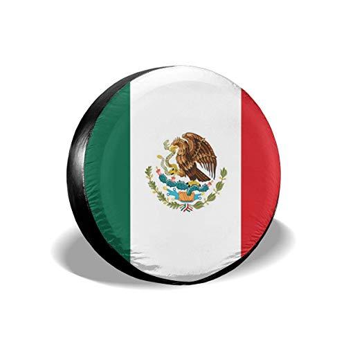 WXM Cubierta de rueda de la bandera de México adecuada para SUV, accesorios de camper, remolques, accesorios RV y muchos vehículos
