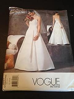 Vogue 2527 Sewing Pattern, Misses' Wedding Dress, Size 12-14-16, Vera Wang Bridal Collection