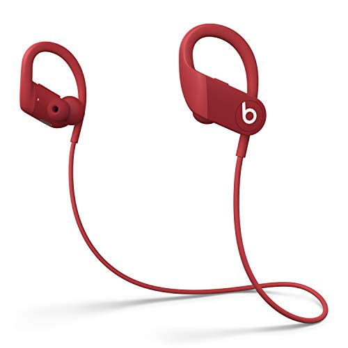 Powerbeats High-Performance Wireless Earphones - Apple H1 Headphone Chip, Class 1 Bluetooth, 15 Hours of Listening Time, Sweat Resistant Earbuds - Red (Latest Model)