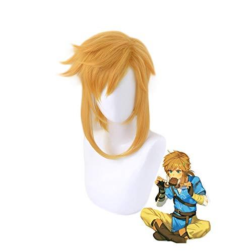 La leyenda de Zelda Breath of the Wild LinkPelucacorta de cola de caballoCosplay Peluca de pelo sinttico resistente al calor Hombres Mujeres Pelucas de disfraz