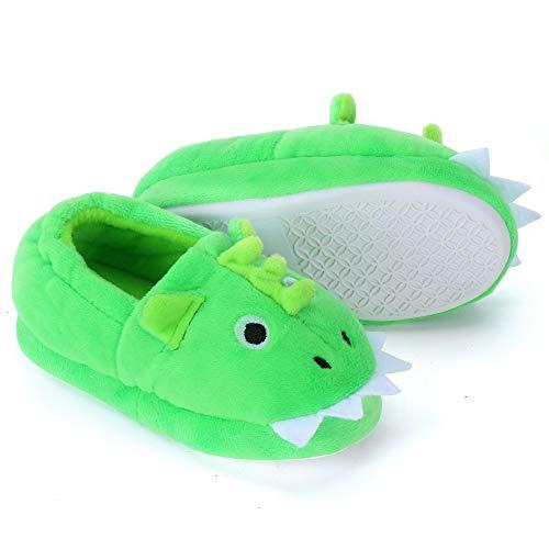 Dream Bridge Zapatillas de felpa para Niñas Niños Zapatos de Peluche para Chicos Dinosaurio...