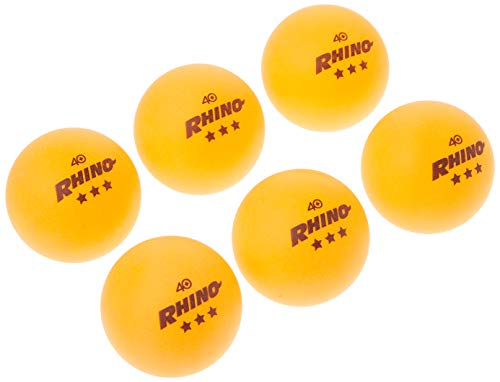 Bolas de tênis de mesa 3 estrelas da Champion Sports, Pacote com 6, 40mm, Equipamento profissional