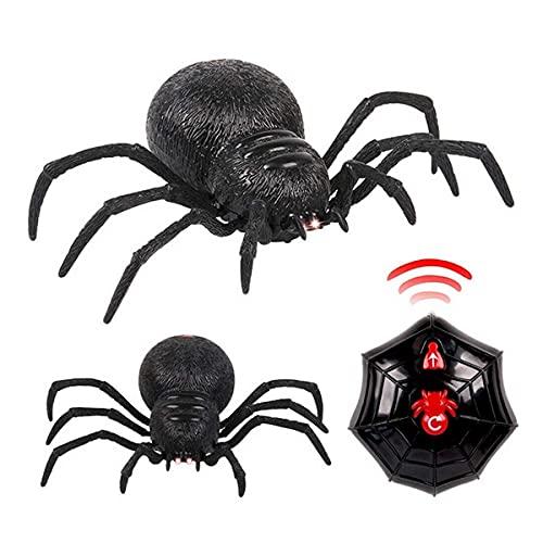 Afstandsbediening Spider Toy Realistische Tarantula Dierfiguren Grappige Prank Joke Scare Gag Cadeaus voor Halloween Christmas Party Decor Verjaardagen Feestdagen Fool Pranks