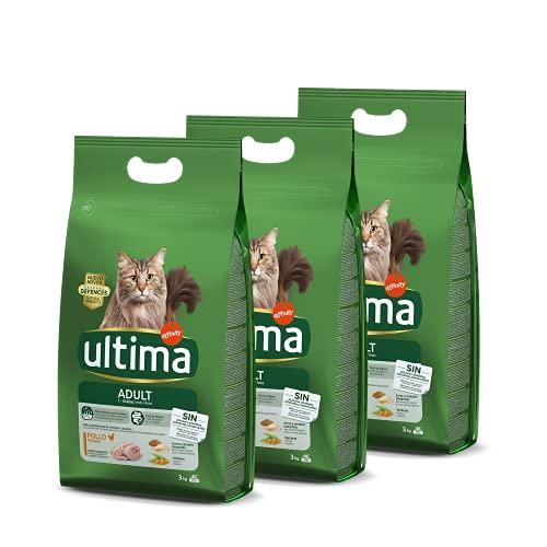 Ultima Cibo per Gatti Adulti con Pollo - 3 x 3kg: Total 9kg